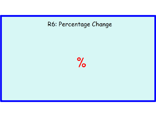 R6 Percentage Change