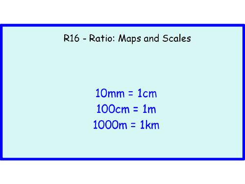 R16 - Ratio Maps and Scales