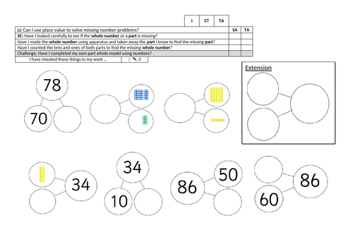 Y2 planning and resources for White Rose Maths Autumn Block 1, Place Value within 100, week 1