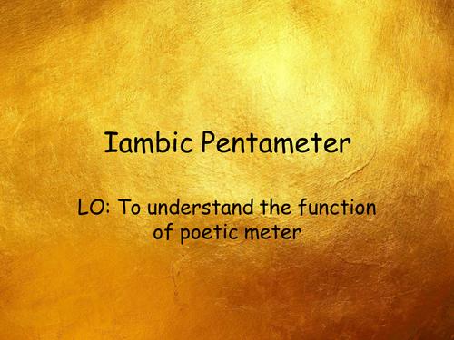 Teaching Iambic Pentameter