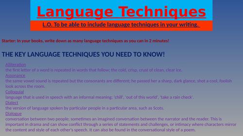 Language Techniques PowerPoint