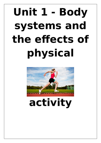 L3 Cambridge Technical Sport Unit 1 workbook Body systems and the effects of physical activity