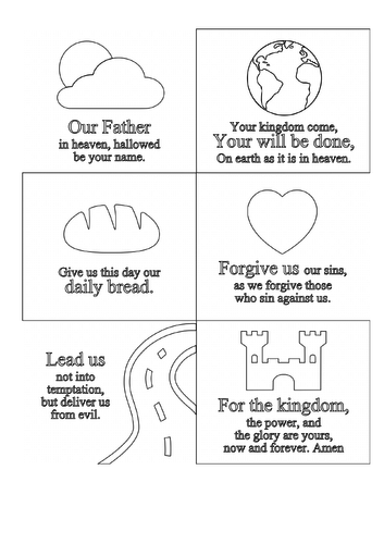 lords prayer coloring book pages | The Lords Prayer Coloring Page | Teaching Resources