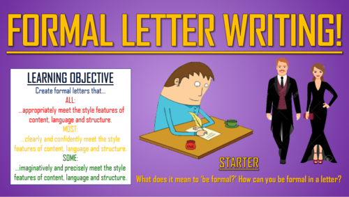 formal letter writing by tandlguru teaching resources tes