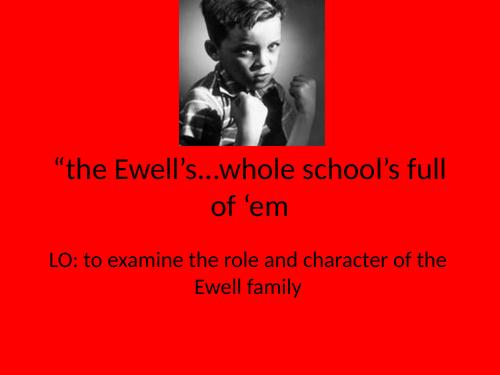 To Kill a Mockingbird Chapter 3-the Ewells
