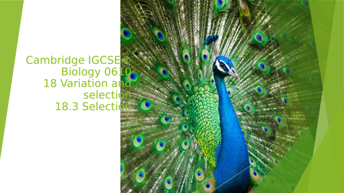Cambridge IGCSE® Biology 061018 Variation and selection18.3 Selection