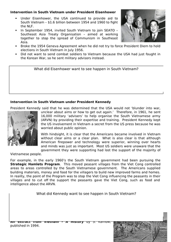 Eisenhower and Kennedy, Vietnam, conflict and tension in Asia, AQA 8145