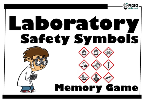 Laboratory Safety Symbols Memory Game By Bunyipblues Teaching