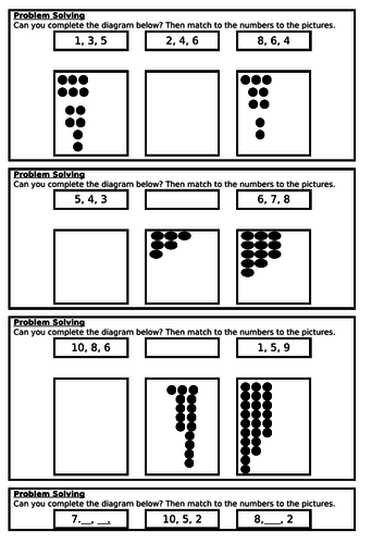 Ordering Numbers, Autumn Block 1, Year 1