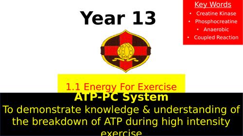 OCR A Level PE- ATP-PC System