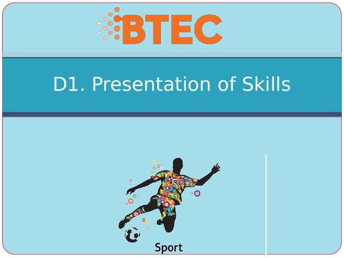 BTEC Sport Level 3 Unit 23 D - Skill Acquisition Powerpoints