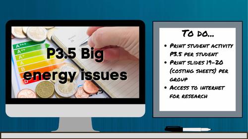 AQA 9-1 P3.5 Big energy issues