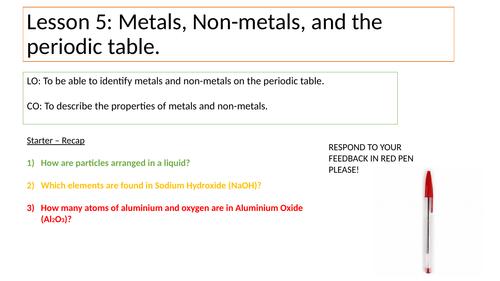 Metals Vs Non-Metals KS3 PP