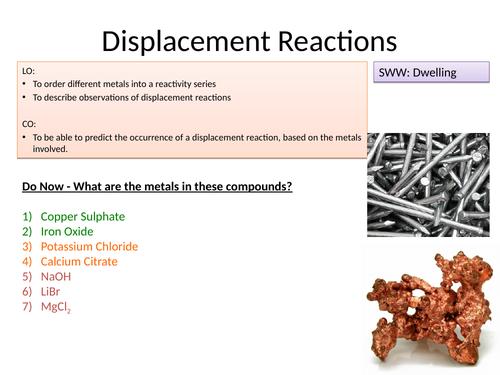 Displacement reactions of metals