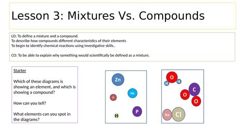 Mixtures Vs. Compounds