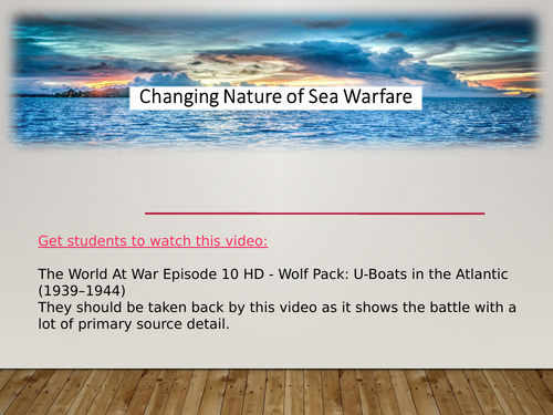 Three lessons of Changing methods of sea warfare