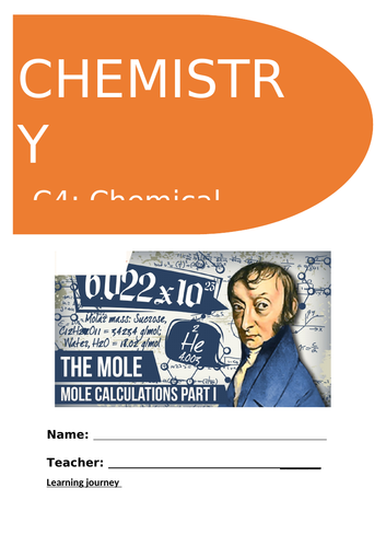 GCSE  9-1 Chemistry C4 - Chemical Calculations  3-full booklets for complete topic coverage!