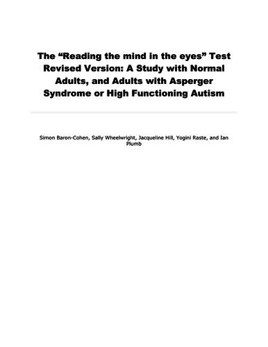 CIE 9990 Baron-Cohen et al. (eyes test)