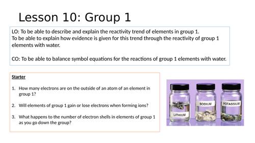 KS4 Group 1 Lesson