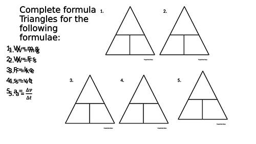 Formula Triangles GCSE Physics