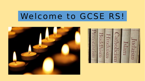 Religious Sudies GCSE Introduction and outline lesson (AQA)