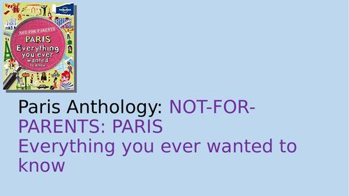 AQA A Level English Language & Literature: Not For Parents Paris and Paris for Children