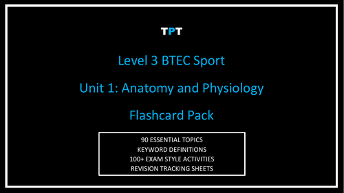 ULTIMATE Level 3 BTEC Sport Unit 1 Anatomy and Physiology Exam ...