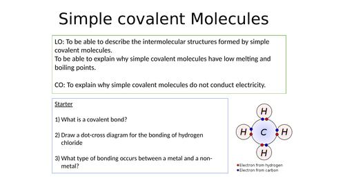 KS4 Properties of simple covalent molecules