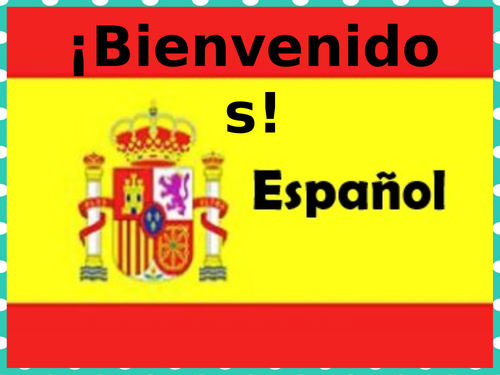 First lesson Spanish