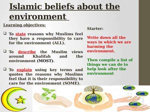 Islamic belief about the environment