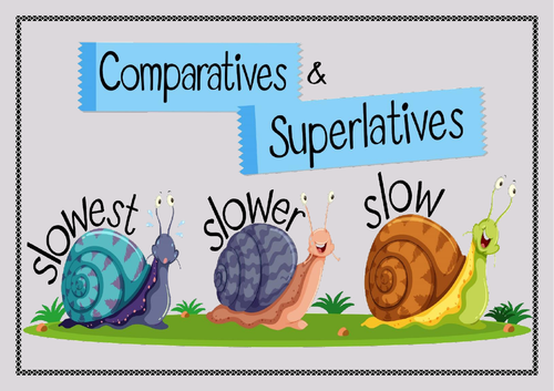 Comparatives and superlatives. Flashcards. Matching game.