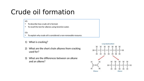 KS4 Crude oil formation and alternative fuels