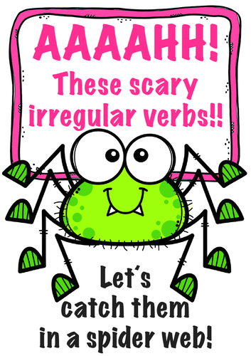 Aaahh! These scary irregular verbs! Teach English verbs with this wonderful worksheet! ESL