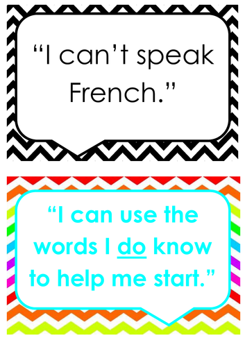 French Growth Mindset Display