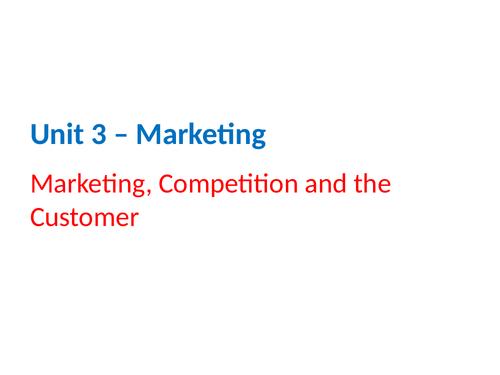 IGCSE Business Studies - Section 3 - Marketing