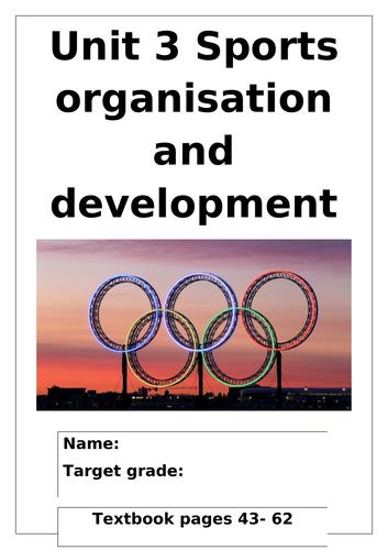 L3 Cambridge Technical Sport Unit 3 Sports organisation and development