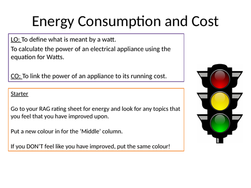 KS3 Electrical Power and Cost