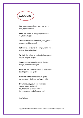 Whole School Poetry Resources