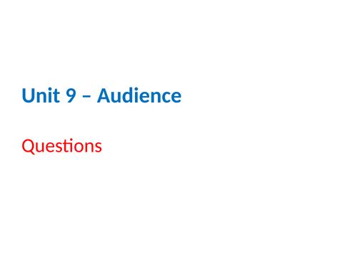 IGCSE Cambridge ICT – Section 9 – Audiences