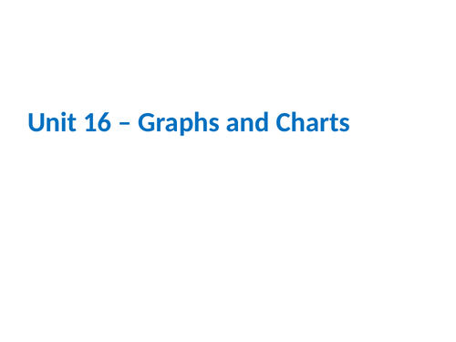 IGCSE Cambridge ICT – Section 16 – Graphs and Charts