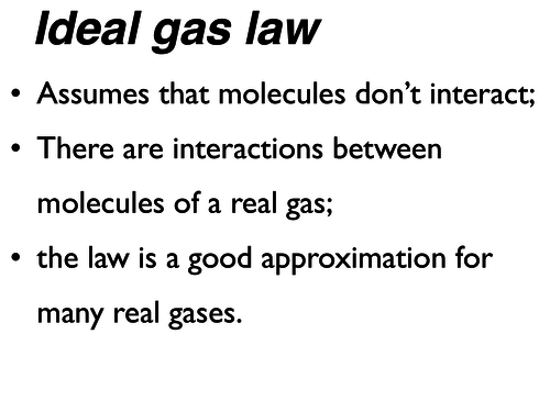 Ideal gas Pv=nRT