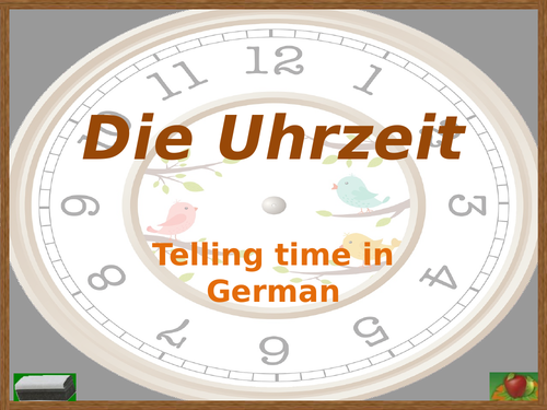 Uhrzeit (Time in German) PowerPoint