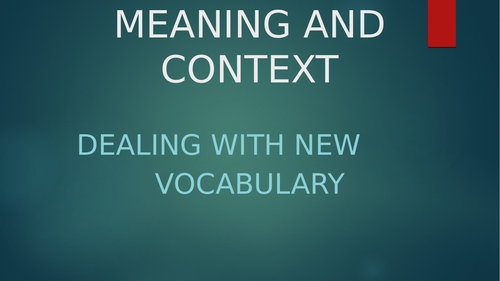 Reading: Meaning and Context