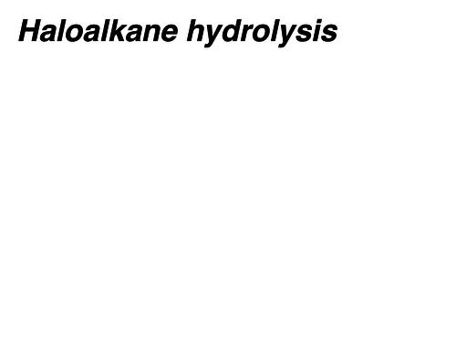Halogenoalkanes nucleophilic substitution