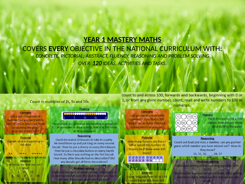 mastery maths year 1 - every objective covered