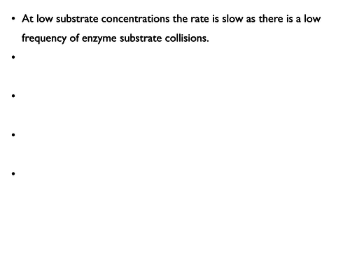 Enzyme reaction rates: temperature, pH, substrate and enzyme concentration dependence.
