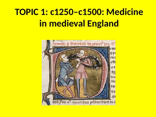 GCSE History Medicine in Britain Knowledge Tests