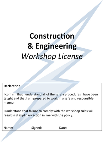 Workshop License Workbook (12 pages)