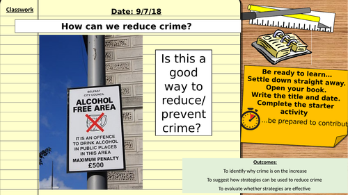 AQA 9-1 Citizenship GCSE: How can we reduce crime? Rights and Responsibilities Unit