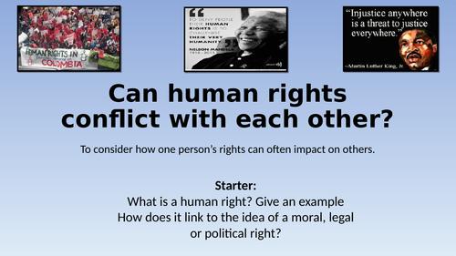 Edexcel GCSE Citizenship 9-1 Theme A Conflicting Rights